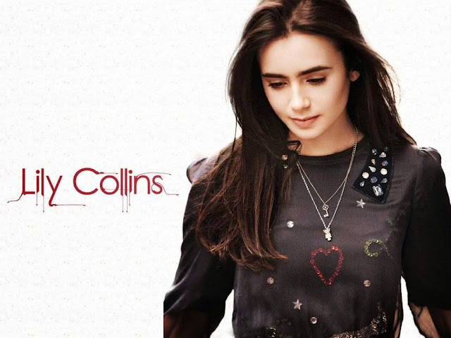 Lily Collins HD Wallpaper
