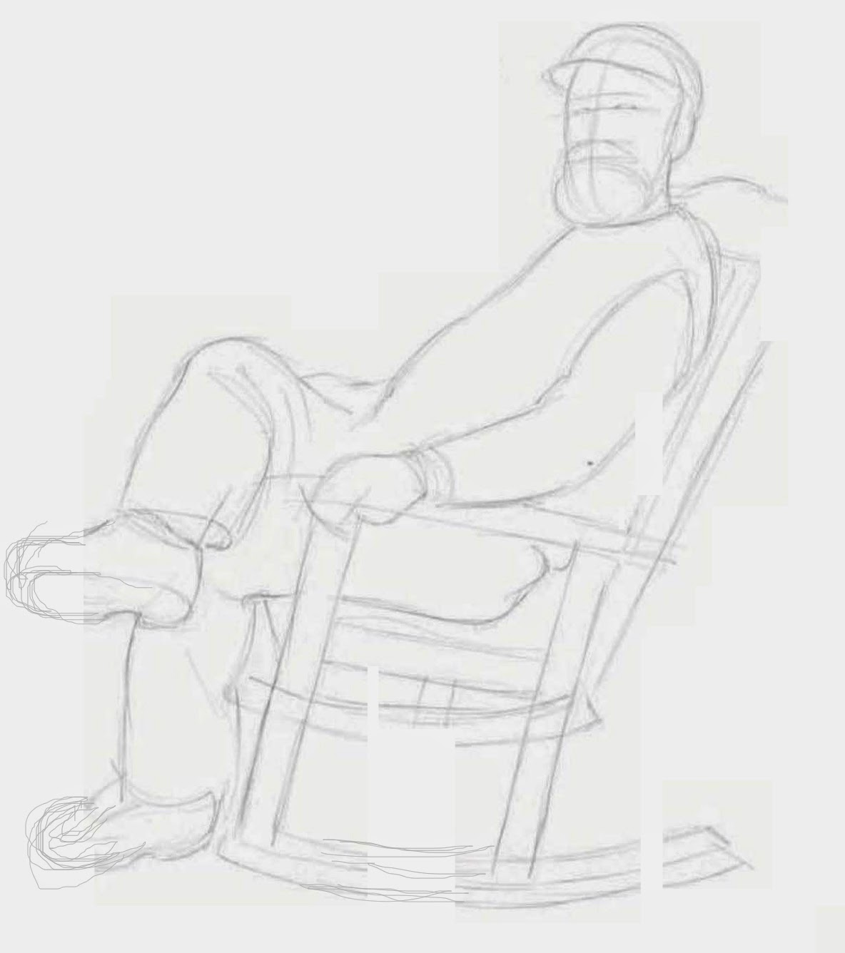 how to draw a chair from the back