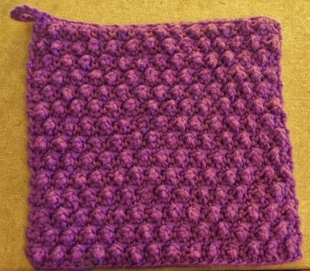 Free crochet pattern - Lily Sugar'n Cream Speedy Texture Dishcloth