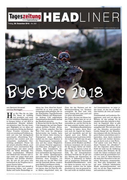 "Headliner #528 - ""Bye bye 2018"""