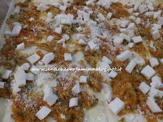 Lasagne vegetariane con zucca porri e cardi