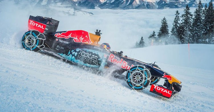Watch Max Verstappen Tackle Ski Slopes In Red Bull Formula