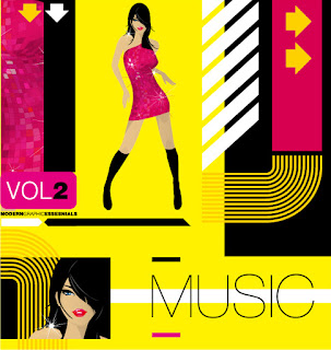 ダンスを楽しむ女性の背景 Modern music イラスト素材