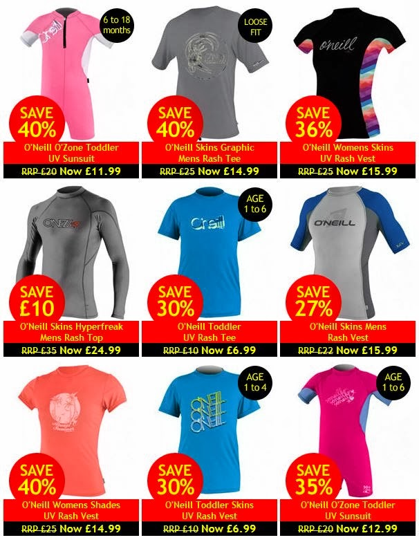 Cheap UV Tops from O'Neill