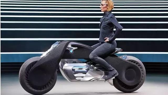 Η BMW παρουσίασε την μοτοσικλέτα του μέλλοντος που δεν χρειάζεται κράνος. (video)