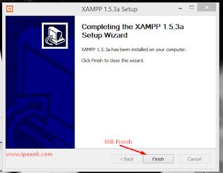 Xampp berhasil di instal