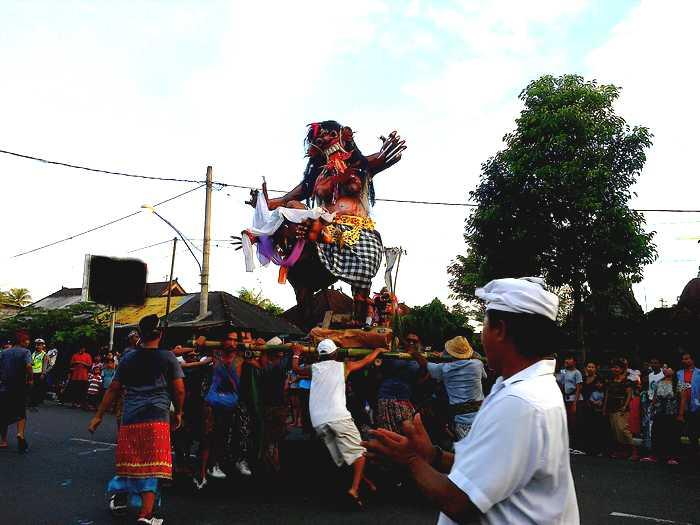 Ogong-ogoh parade in Bali