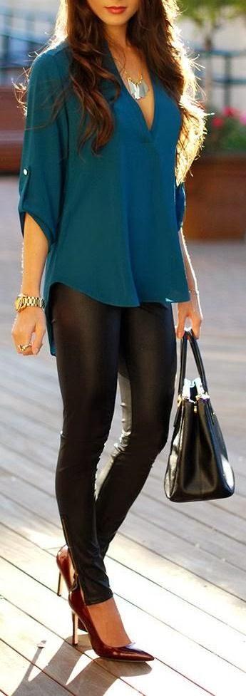 Black & Teal Style