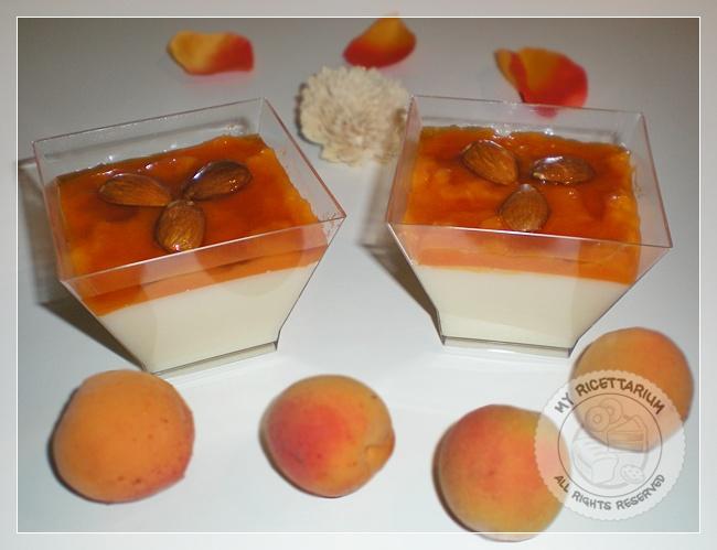 Biancomangiare con confettura di albicocche e miele di arancio