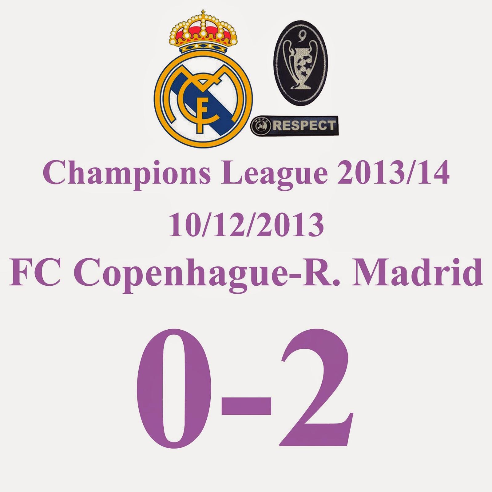 FC København 0 - 2 Real Madrid
