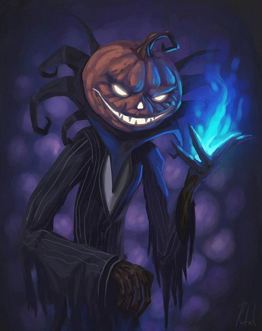 Evil Pumpkin por ales-kotnik