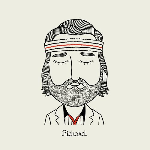 Personagens de Wes Anderson | ilustração de Alejandro Giraldo