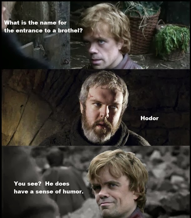 hodor tyrion game of thrones memes