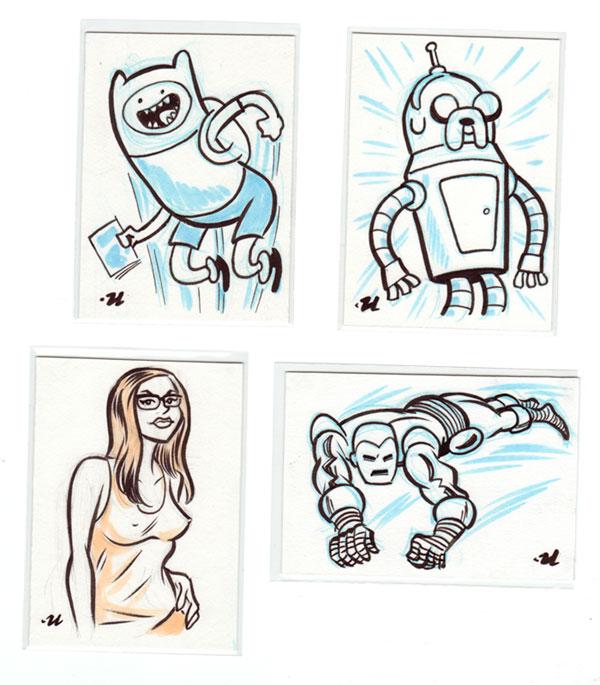 Atom Bomb Bikini Sketch Cards