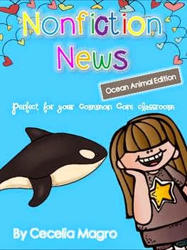 https://www.teacherspayteachers.com/Product/Non-Fiction-News-Common-Core-Close-Reading-Writing-K-2-Ocean-Animals-Edition-1179171