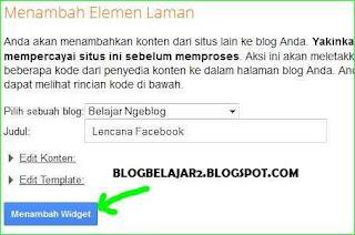 cara menambahkan dan memasang lencana profil facebook di blog