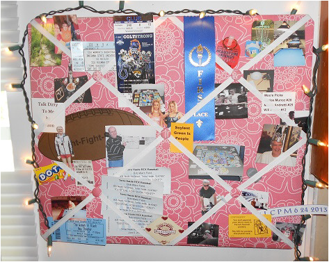 Memory board for gratitude and thanks