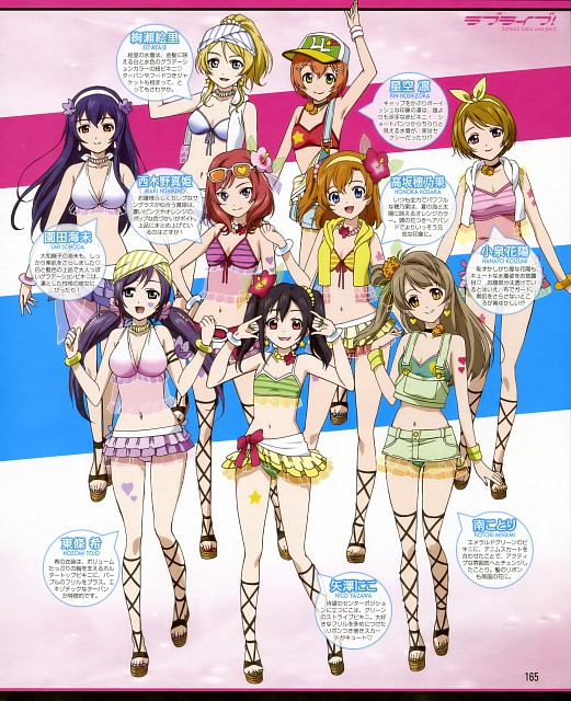 love live! school idol project swim suit