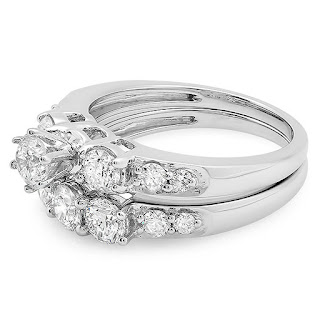 3 Stone Bridal Engagement Ring 2