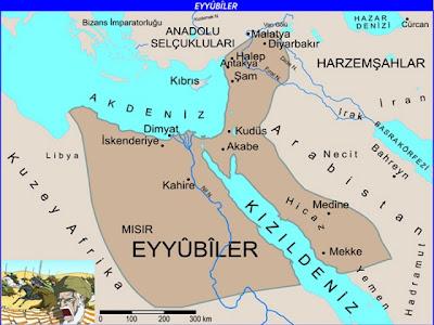 Eyyubiler haritası