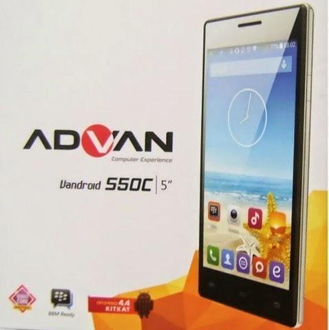Advan Vandroid S50C, Harga dan Spesifikasi HP Android KitKat Quad Core 1,6 Juta