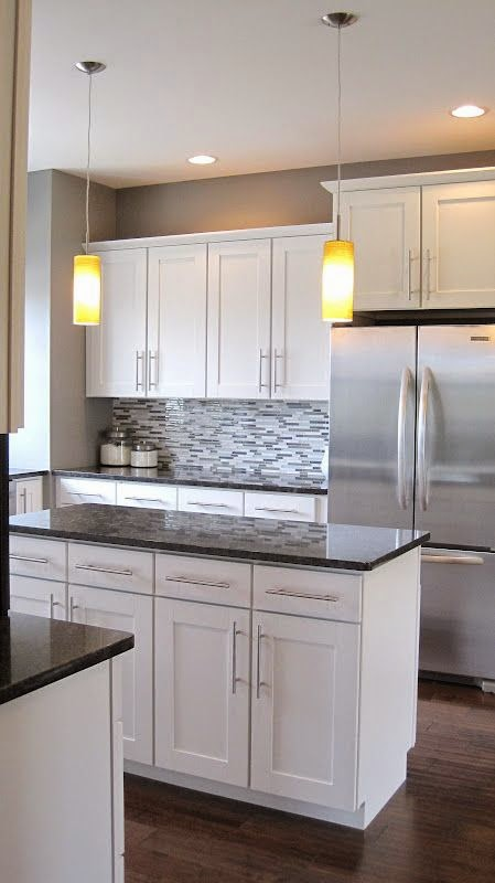 modern and small kitchens with white cabinets