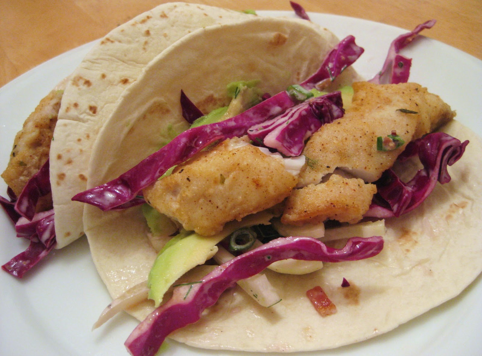 the joyful table fish tacos with red cabbage and fennel slaw
