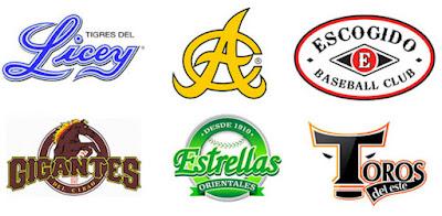 Escudos de los equipos de la Liga de Béisbol Profesional de la República Dominicana
