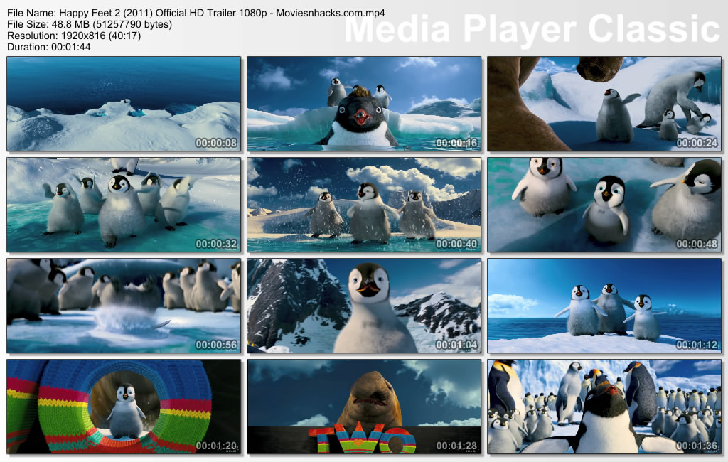happy feet two  2011  exclusive hd 2nd trailer 720p  1080p