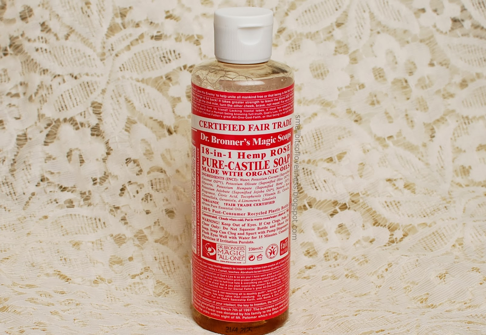 Dr. Bronner's Pure Castile Liquid Soap Rose