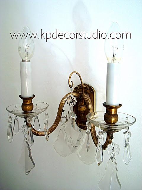 Apliques vintage de lágrimas y velas estilo clásico chandelier