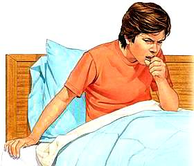Dibujo de joven con tos o joven toceando