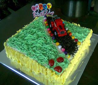 Car Cake (Bukan Mc Queen) for Kak Echa