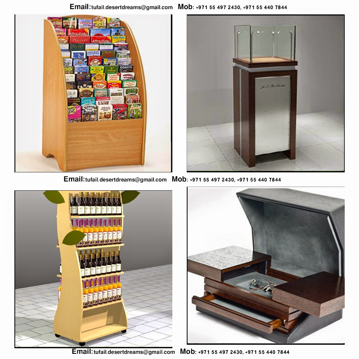 Exhibition Stand Items : Design and manufacturer display stands in uae wooden
