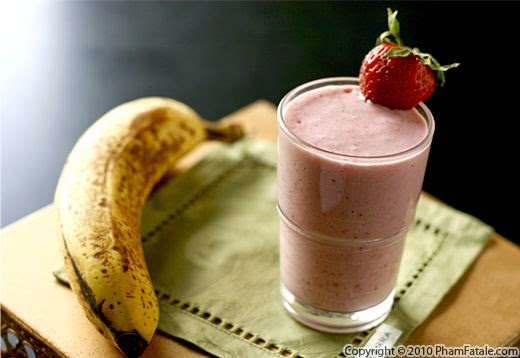 Smoothies Oatmeal Strawbanana