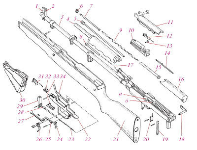 Детали карабина СКС-45