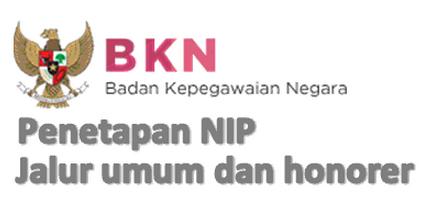 Penetapan Pengangkatan NIP CPNS Honorer K2