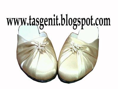 selop pesta sepatu wedding gold cantik