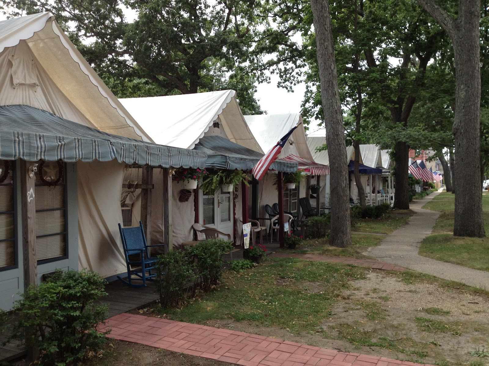 The tents of Ocean Grove & Instant House: Ocean Grove Camp Meeting