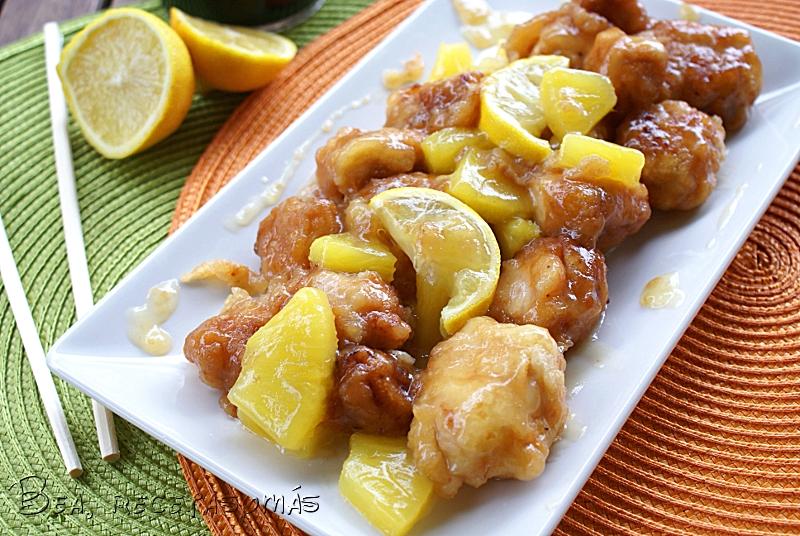 Pollo al limón chino