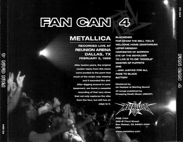 Metallica - Fan Can 5