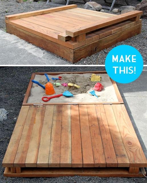 como fazer caixa de areia