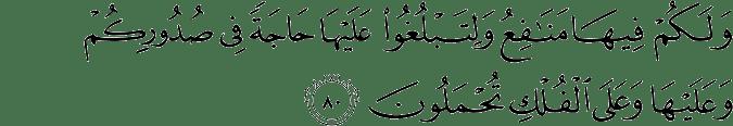 Surat Al Mu'min Ayat 80