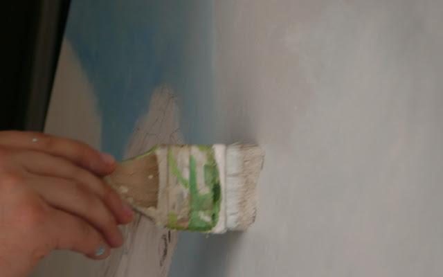 Podmaluwk obrazu olejnego, malowanaie reprodukcji krok po kroku etapami, kopia obrazu