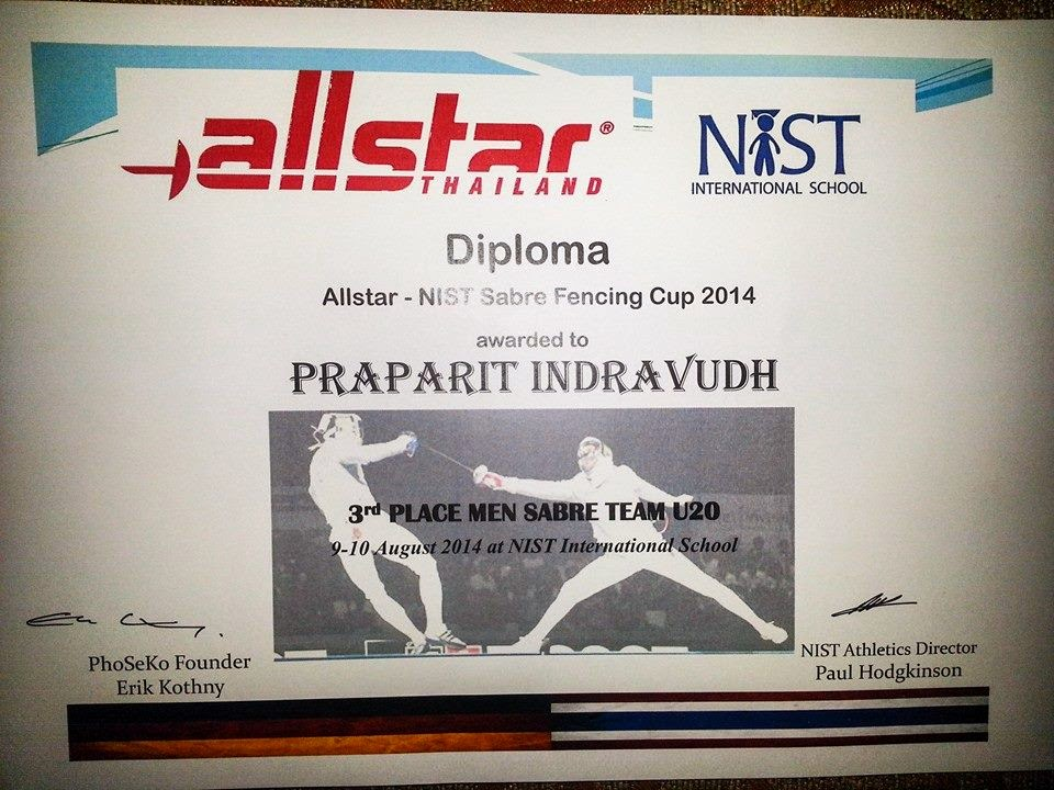 3rd Place U-20 Team Allstar 2014