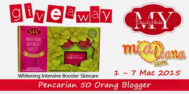 Giveaway Whitening Intensive Booster Skincare : Pencarian 50 Orang Blogger