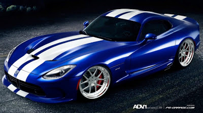 2013 SRT Viper Receives ADV.1 Wheels via Virtual Tuning