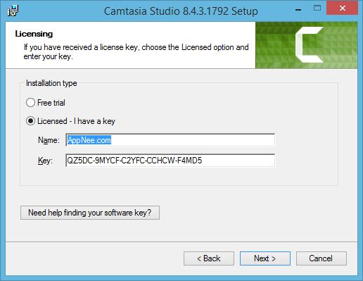 software key camtasia studio 2018