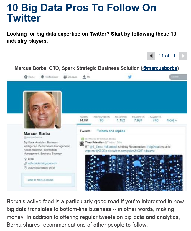 10 Big Data Pros To Follow On Twitter