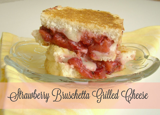 Strawberry Bruschetta Grilled Cheese with Brie